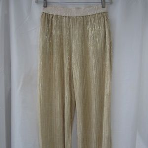 Anthro Elevenses 2 Gold Culotte Crop Pants Spring
